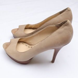 Enzo Angiolini Open Toe High Heel Pumps